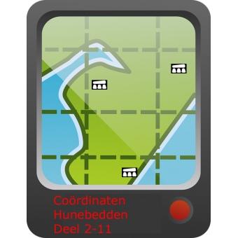 GPX-coördinaten hunebedden