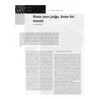 Know your judge know his morals